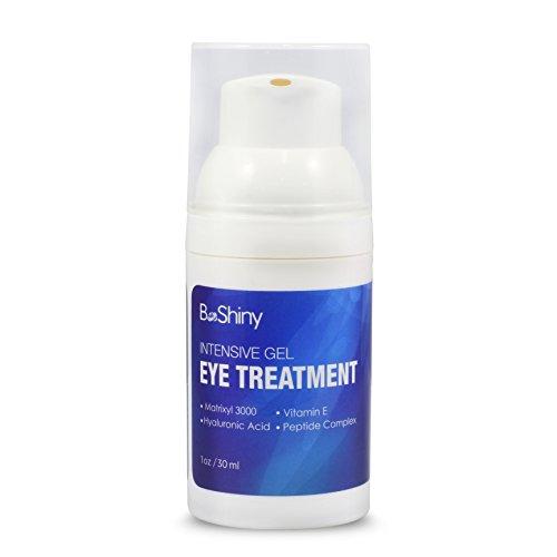 BeShiny Eye Gel Cream per occhi gonfi, rughe, occhiaie, borse e linee sottili con acido ialuronico, olio di jojoba, MSM, peptidi - crema per il viso più efficace anti invecchiamento per 30 e sotto gli occhi
