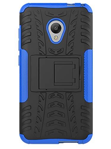 XINFENGDI Alcatel U5 Hülle,Handytasche Kratzfest aus TPU/PC Material Reifenprofil Handyhülle Kompatibel mit für Alcatel U5 - Blau