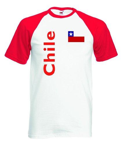 Chile Herren T-Shirt Baseball Trikot|l