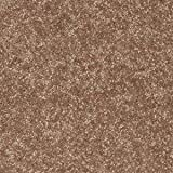 Ambiant Pet Friendly Solid Color Area Rug Brown, 6' x 6'-Sample
