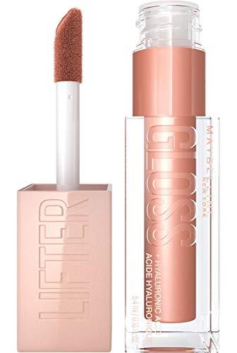 Maybelline New York Glänzender Lipgloss für voller wirkende Lippen, Feuchtigkeitsspendend, Mit Hyaluronsäure, Lifter Gloss, Farbe: Nr. 008 Stone (Braun), 1 x 5,4 ml