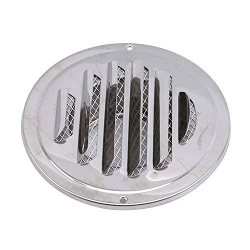 Garispace - Rejilla de ventilación para Pared (Acero Inoxidable, 120 mm)