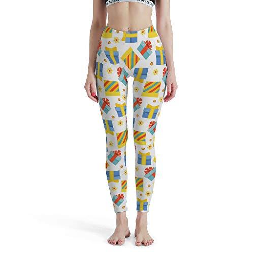 shaoziyun Yoga Leggings Damen 3/4 Gift Box Fitnes Hohe Taille Knöchellang Blickdichte Tights Sport Hose