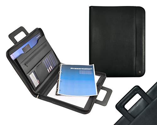 Desq 3683 ausziehbarem Griff abnehmbarer Ringmechanismus, Desk Accessories und Storage, schwärz, A4