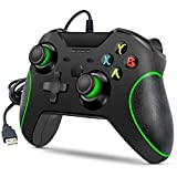 YCCSKY Xbox One Wired Controller, Wired Xbox One Game Controller USB Gamepad Joypad Controller with Dual-Vibration for Xbox One PC Windows 7/8/10 (Black) (Renewed)
