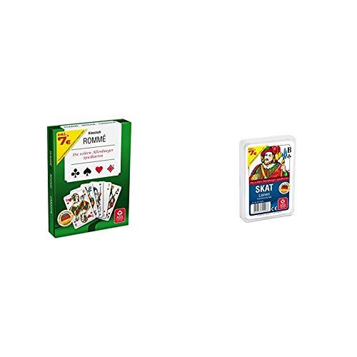 ASS Altenburger 22570071 - Kartenspiel Rommé in Stülpdeckelschachtel & Altenburger 22570006 - Skat Leinenprägung