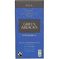 Green & Black's Organic Milk Chocolate - 34% Cocoa (100g) 緑と黒のオーガニックミルクチョコレート - 34%のココア( 100グラム)