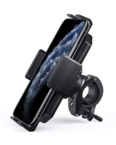 AUKEY Bike Phone Mount Anti Shake 360 Rotation Bicycle Motorcycle Phone Mount for Handlebar Bike Accessories Compatible with iPhone 11 Pro Max/11/XS/8, Galaxy S10+,and More