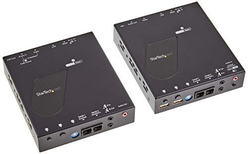 StarTech.com HDMI KVM Extender Over IP - 4K 30Hz HDMI 2.0 & USB Over IP LAN or CAT5e/CAT6 Ethernet (100m/330ft) - Remote KVM Switch/Console Transmitter/Receiver Extender Kit (SV565HDIP)