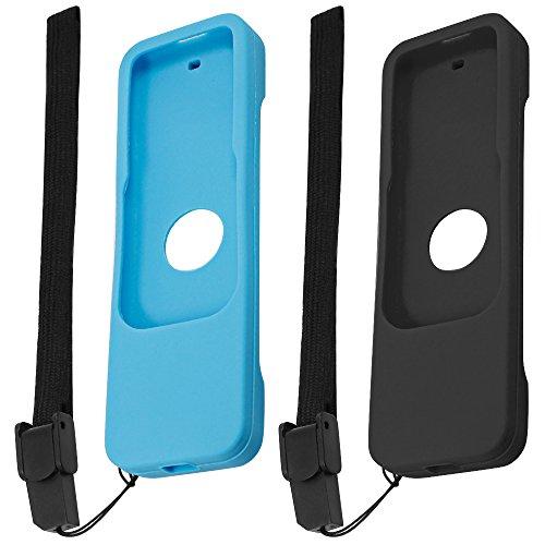 Finegood Lot de 2coques de protection en silicone pour télécommande Siri d'Apple TV 4K 4ème et 5ème génération