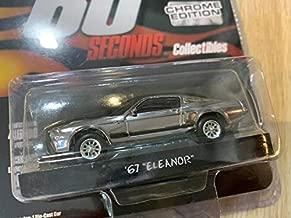 1967 Ford Mustang Custom Movie Star Eleanor Chrome w/Black Stripes Gone in 60 Seconds 2000 Movie Ltd Ed 4600 pcs 1/64 Diecast Car Greenlight 51227