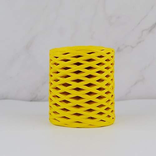 SUNYUAN 200M Rafia Paja Papel Hilado Mano Crocheting Hilados para DIY Sombreros Bolsos Cojines Material de Embalaje