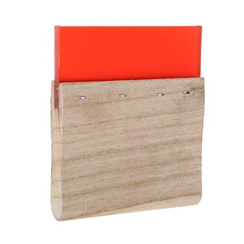 Gazechimp Grafik Rakel mit Holz Griff, Siebdruckrakel Siebdruck Tintenschaber mit Holzgriff für Siebdruck - rot 10cm