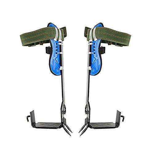 DYRABREST 트리 등반 스파이크 조정식 등반 트리 신발 스테인리스 스틸 트리 등반 도구 2개 기어 세트 조정식 래너드 로프 구조 벨트
