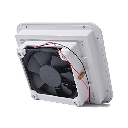 Lorsoul Bajo Nivel de Ruido Universal de plástico 12V RV remolques de Camping Side Salida de Aire de ventilación del Ventilador del Ventilador de refrigeración Blanca