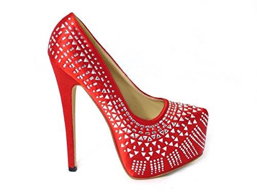 Zapatos de tacón alto para mujer con tacón alto cerrado, plataforma oculta...
