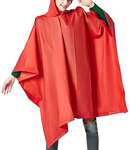 Color : Red, Size : Large GRYY Outdoor Waterproof Clothing//wasserdichte Anzug Regen Jacke Poncho Regen Seal M/änner und Frauen Einzel Raincoat Au/ßen Split Reitanzug