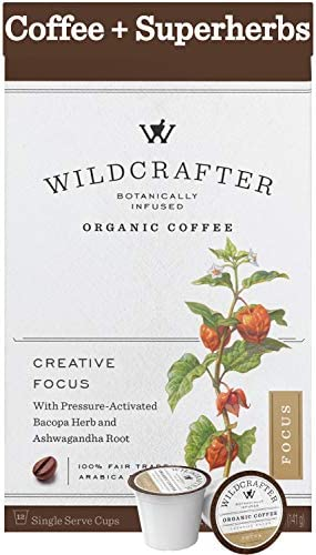 Wildcrafter Botanicals Organic Coffee K Cups Natural Focus Creative Brain Booster Infused with product image