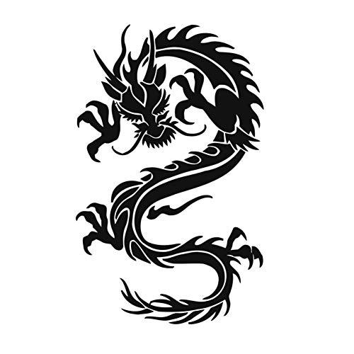 LWJZQT wandstickers Home Decor Dragon Muurstickers Zelfklevende Verwijderbare PVC Materiaal Ontwerp Muursticker voor Woonkamer 59cm X 93cm