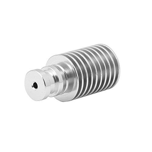 ASHATA 3D Printer V5 V6 Heat Sink, Richer-R 2 Pcs V5 V6 Extruder Metalen J-Head Heat Sink Snijden met Hittebestendigheid Ontwerp voor 3D Printer, 3.0mm V5 Korte afstand
