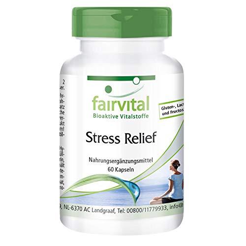 Stress Relief Kapseln - 60 Kapseln - B-Vitamine mit Spurenelementen, Aminosäuren und Pflanzenextrakten