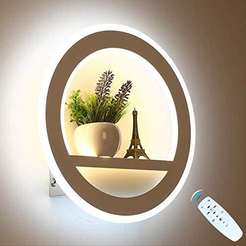 Leidde Wandlamp Dimbare 2.4G Afstandsbediening Moderne Slaapkamer Woonkamer, Decoratieve Verlichting Wandlamp Met Bloem En Toren 29 Watt
