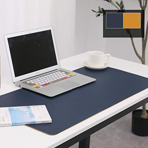 Office Desk Pad,Muy Grande Sostenible Panel De Redacción De Escritorio Para El Trabajo Alfombrilla De Escritorio De Oficina,Doble Cara Multifuncional Alfombrilla Raton Impermeable -Azul/naranja 900x45