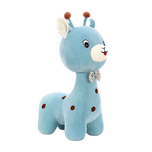 Pluche Vlinderdas Herten Pop Knuffel Giraf Kinderen Vod Pop-Blauw _30cm