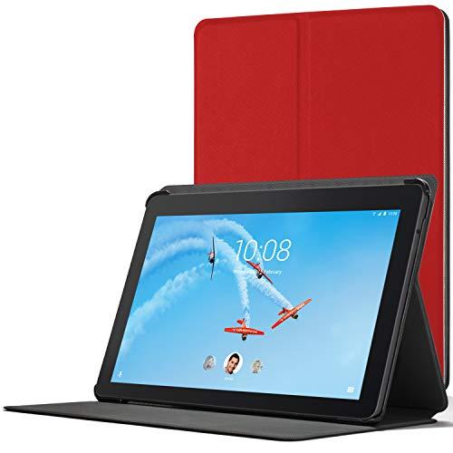 Forefront Hülles Hülle für Lenovo Tab E10, Magnetische Schutzülle Hülle Cover und Ständer für Lenovo Tab E10 10 Zoll 2018, Rot
