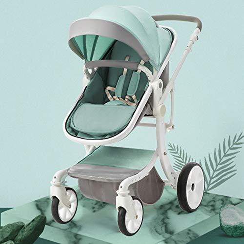 WWWANG Kompakter Oxford-Stoff, umwandelbarer Luxus-Kinderwagen, wendbares Sitz-Design für hinten und nach vorne gerichtete X-Typ-Aluminium-Legierungsrahmen, Sicherheitsgurt