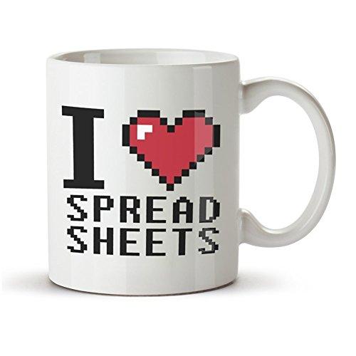 """Taza con texto en inglés""""I Love Spreadleaves"""""""