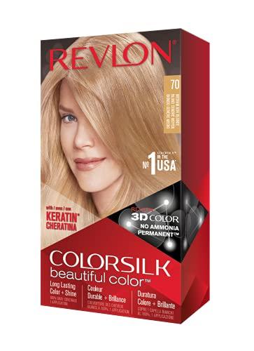 Revlon Colorsilk Tinte #70-Rubio Medio Ceniza - 5 ml