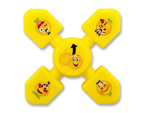 Hanukkah Dreidel Fidget Spinner Glossy Yellow Emoji, Chanukkah Toys