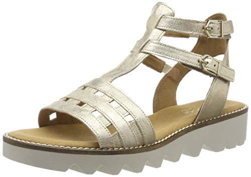 Gabor Shoes Damen Comfort Sport Riemchensandalen, Mehrfarbig (Platino 14), 43 EU