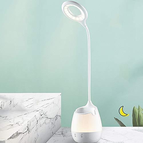 Led-tafellamp met ledlamp, oplaadbaar, voor de bescherming van de ogen, USB-tafellamp voor de bescherming van de ogen in Dormitorio voor studenten, bedlampje A dubbele gebruiksmogelijkheden