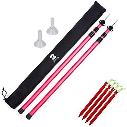 SaphiRose Adjustable Tarp Poles - Set of 2