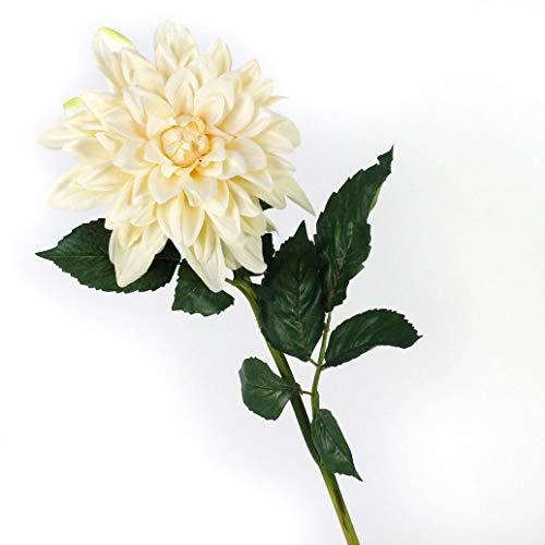 artplants.de Künstliche Dahlie, Creme, 80cm, Ø 20cm - Dekoblume