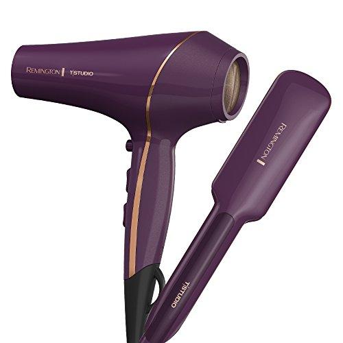 "Remington Professional Hair Bundle: T Studio Thermaluxe Hair Dryer & T Studio Thermaluxe 2"" Wide Hair Straightener"