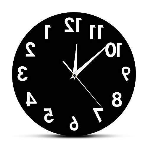 YQCCL Reloj De Pared Inverso Números Inusuales Al Revés Reloj Decorativo Moderno Reloj Excelente Reloj para Su Pared
