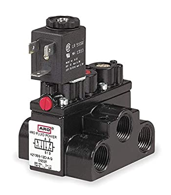 """ARO 3/8"""" 120VAC 4-Way, 2-Position Solenoid Air Control Valve - A213SS-120-A by ARO"""
