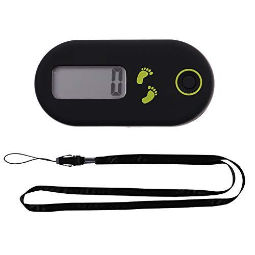VOSAREA Mini Schrittzähler Clip 3D Gehen Schritte Counter Einfache Pedometer Bedienung Testsieger Schritt Distanz Kalorien Zähler Fitness für Mann Frau Sport Zubehör