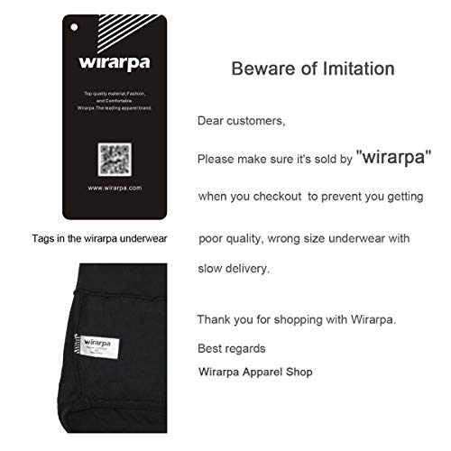 wirarpa Women's Cotton Underwear High Waist Briefs Full Coverage Panties Ladies Comfortable Underpants 5 Pack Assorted Medium