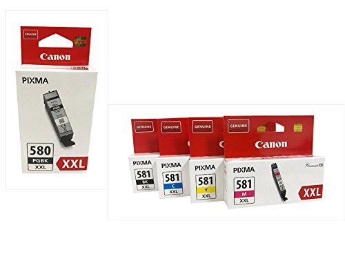 Druckerpatronen für Canon Pixma TR7550,TR8550, TS6150, TS6151, TS8150, TS8151, TS8152, TS9150, TS9155 (XXL bk/pbk/c/y/m)