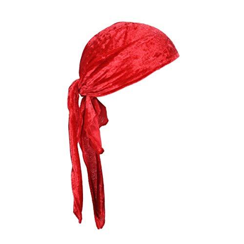 Thetru Piraten-Kopftuch in rot | Einheitsgröße Erwachsene | Piraten-Bandana für Freibeuter-Kostüme zu Karneval und Fasching