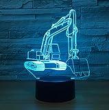 SFALHX 3D Optical Illusion Lampada Luce Notturna Vangatrici 7 colori LED e Interruttore tattile, lampada da scrivania San Valentino Della Decorazione della Casa Del Migliore Regalo di Natale