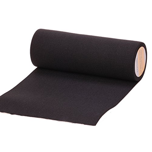 Gummiband, 15 cm breit, elastisch, 2 m Schwarz