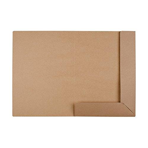 Mappe A4, braun, stabil, Kraftkarton, Kraftpapier, Präsentationsmappe, Sammelmappe, Bewerbungsmappe, unbedruckt - 10er Pack