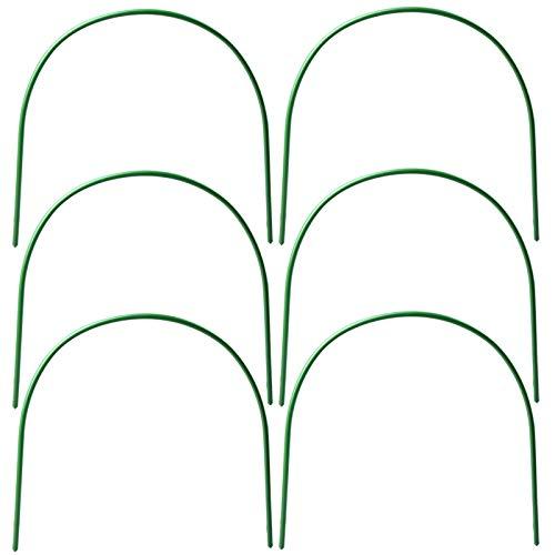 YQYAZL Gewächshausreifen 6 Stück Gewächshausreifen Garten Reifen Rahmen Tunnel Unterstützung für Garten Stoff Pflanzenstützen Reifen