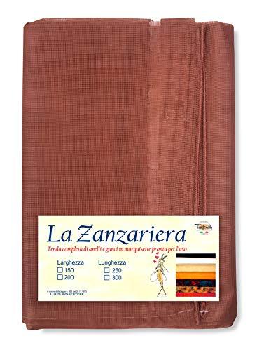 Tex family Tenda Rete Zanzariera Marquisette da Esterno Piombata in 4 Misure Diverse Unito Marrone - Cm. 200 x 300