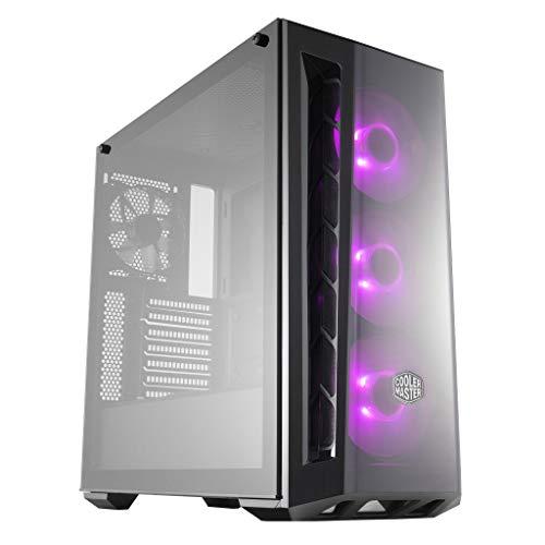 Cooler Master MasterBox MB520 RGB - Boîtier Moyen tour PC Gamer ATX, panneau avant teinté, 3 x 120mm ventilateurs pré-installés, panneau latéral en verre, flexibles configurations de flux d'air - RGB